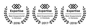 Voted #1 Acupuncturist in Honolulu By Expertise.com - 2016, 2017, 2018. 2019, 2020